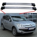 Citroen C-Crosser 2007 + Aero Cross Bars Set Aluminium Spoiler