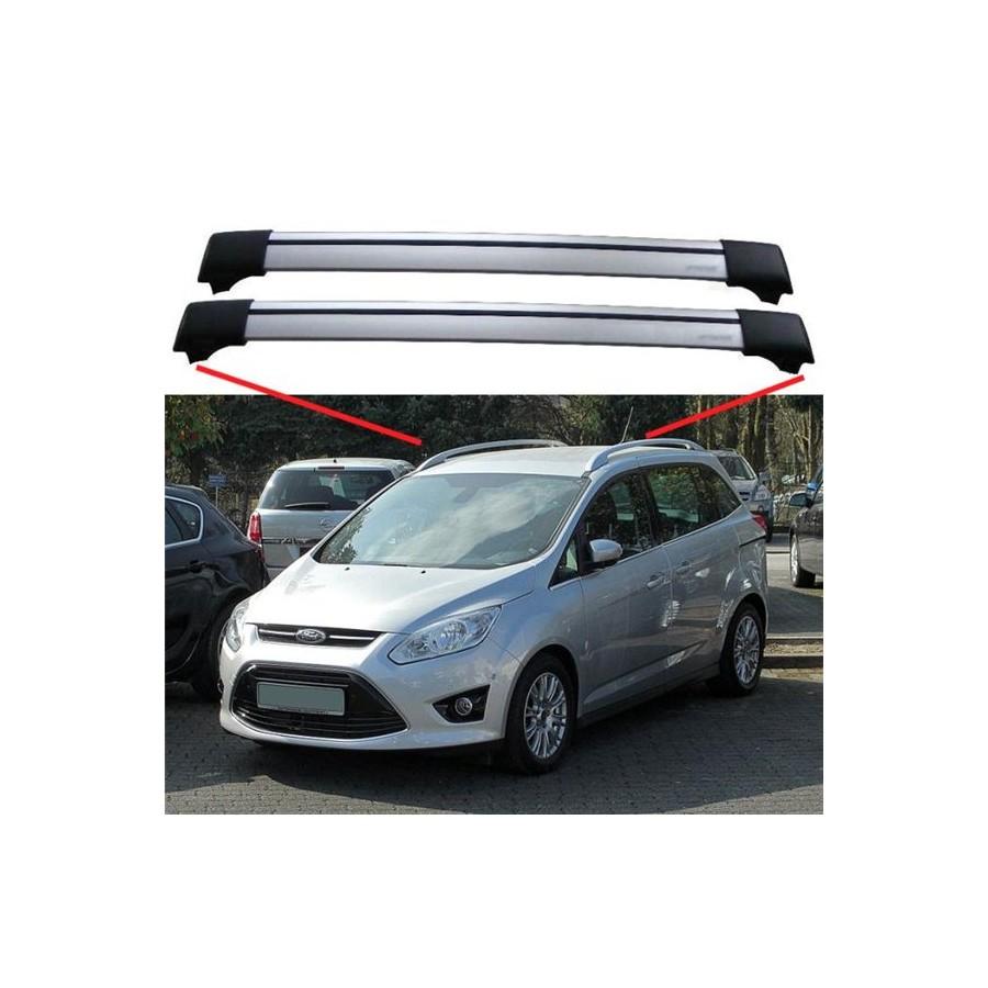 Ford grand c max 2010 roof rack aero cross bars set spoiler